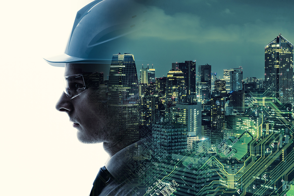 worker and city